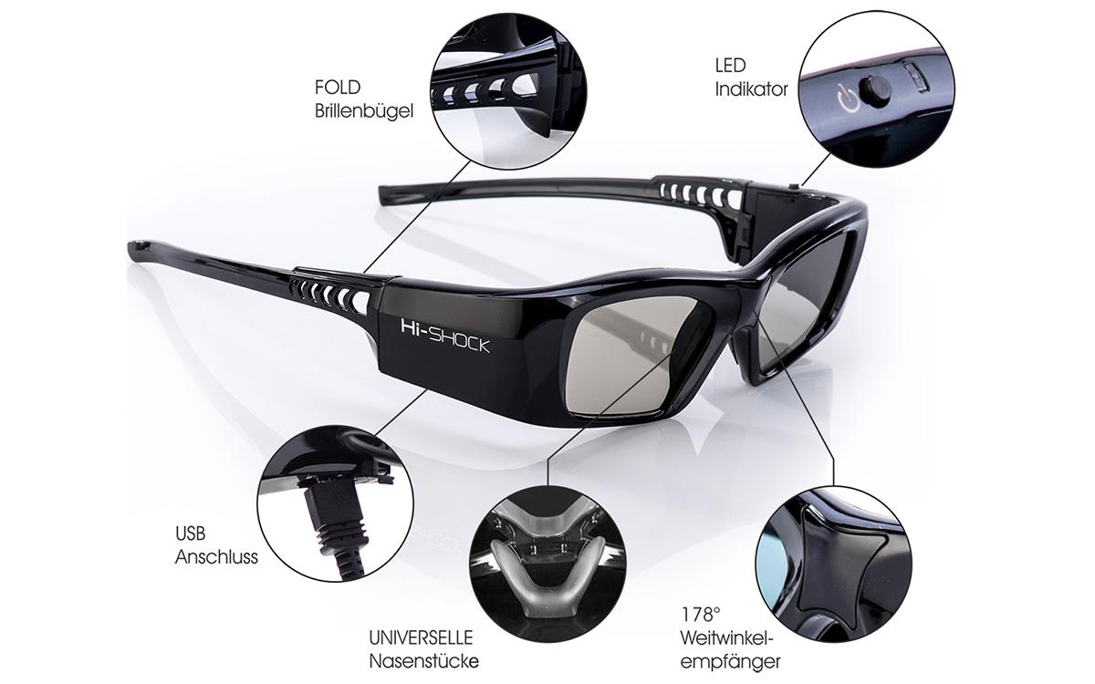 3d fähige Beamerleinwand black diamond 3d brille