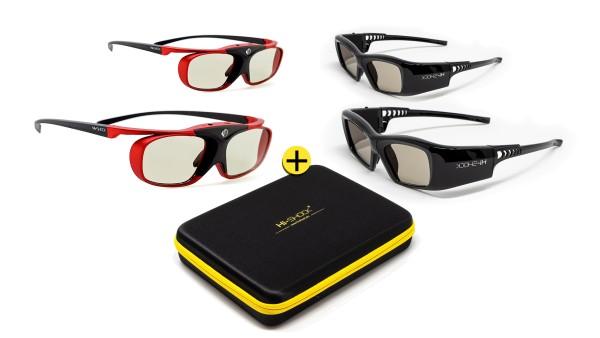 black diamond scarlet heaven 3d brillen familypack set für projektor rf