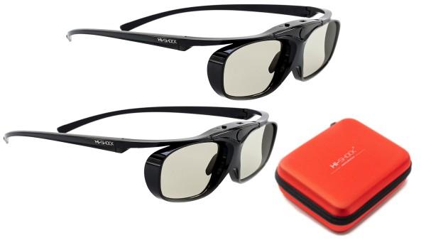 black heaven 3d pro 3d brille für sony jvc hw65 45 epson 6600 Dualpack