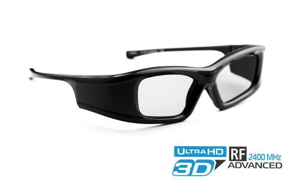 black onyx 2.4 rf 3d brille für optoma beamer projektoren