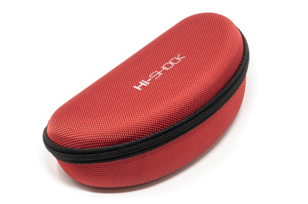 rotes brillenetui hi-shock red case hard
