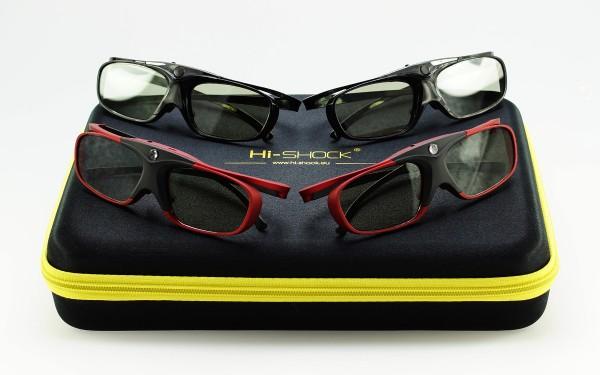scarlet black 3d brille aktiv für samsung sony panasonic 3d-tv
