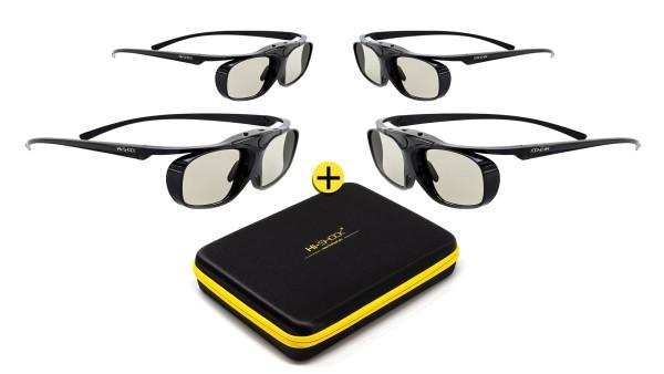 hi-shock black heaven rf pro 3d brillen für projektoren geschenkset