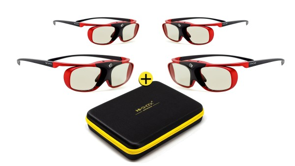 scarlet heaven 3d brillen family pack geschenkset active shutter