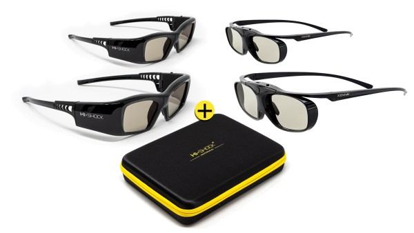 familypack set black diamond bluetooth 3d brille für aktiven tv
