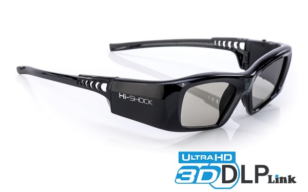 dlp 3d brille hi-shock 7g black diamond für acer optoma benq