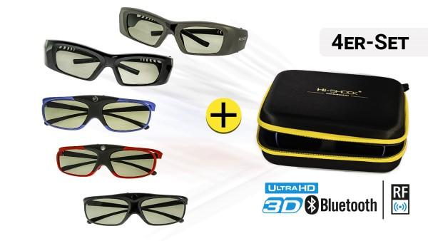 4x 3D-Brille Ihrer Wahl | BT + RF Pro
