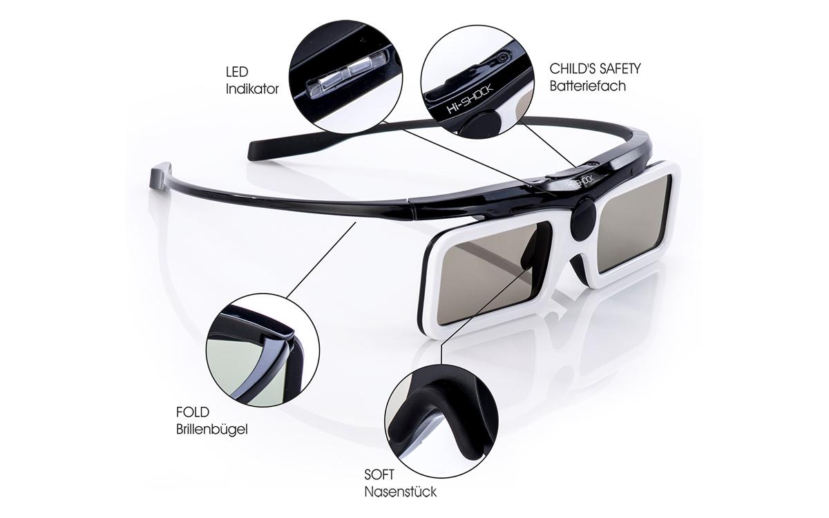 D Active Glasses Hi Shock